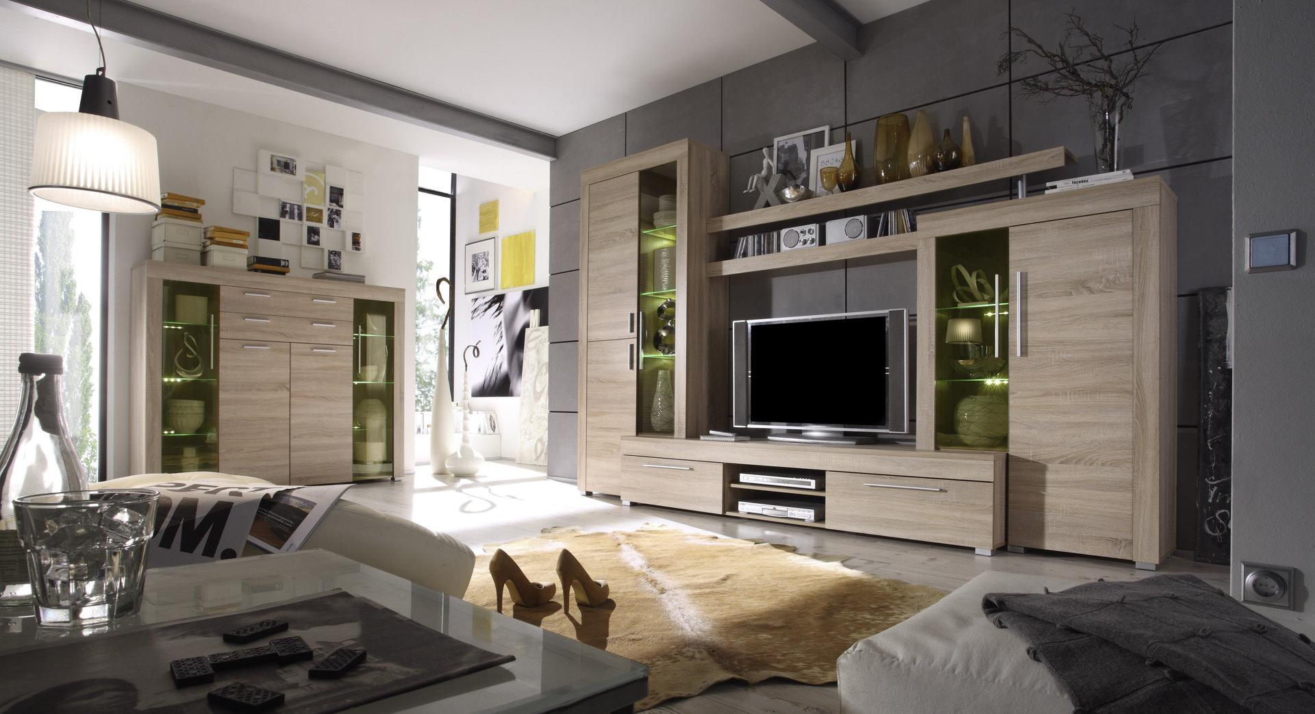 Soggiorno moderno friend parete porta tv di design con led for Modelli di soggiorni moderni