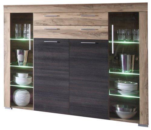 Vetrina moderna azalea credenza con led mobile soggiorno design - Mobile vetrina moderno ...