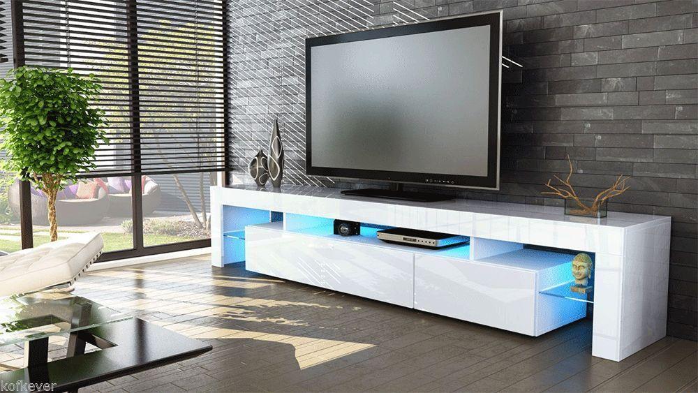 ... tv Vivaldi, mobile bianco con led per soggiorno moderno in 13 colori