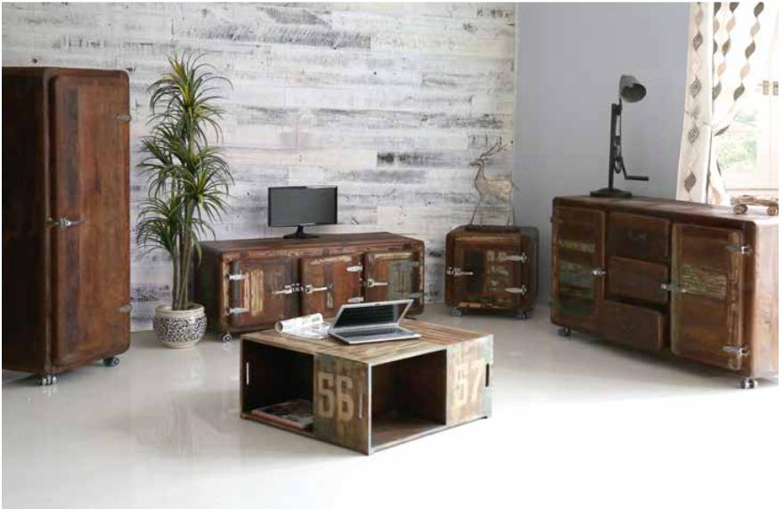 Porta tv Retrò, mobile soggiorno moderno, portatv stile vintage
