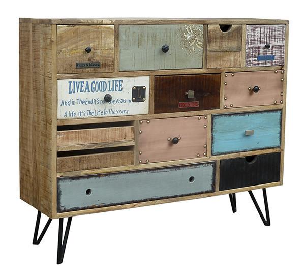 Credenza moderna bistrot madia vintage mobile in legno - Credenza madia ...