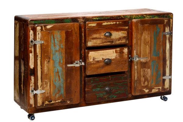 Credenza Moderna Vintage : Credenza vintage retrò madia moderna in legno massiccio riciclato