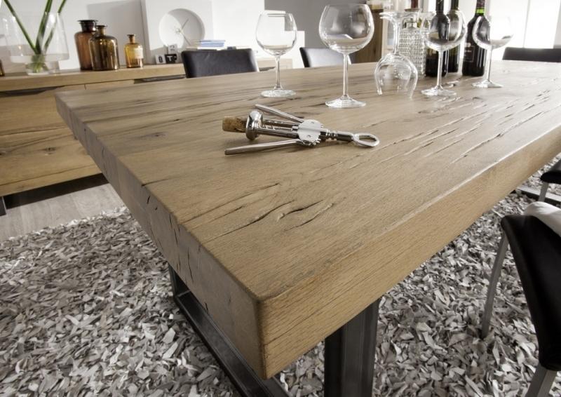 Tavolo da pranzo Italia,tavolo design moderno in legno massiccio