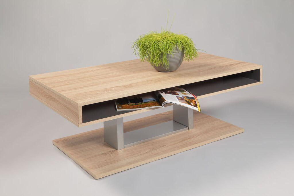 Tavolino basso da salotto moderno jimmy, cm 110 x 60 x 40, corpo ...