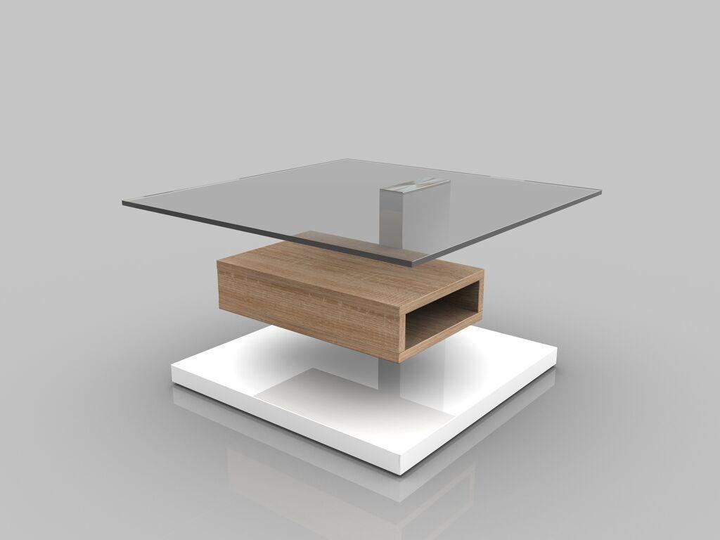 Tavolino moderno Joy, mobile soggiorno di design, tavolo con mensola ...