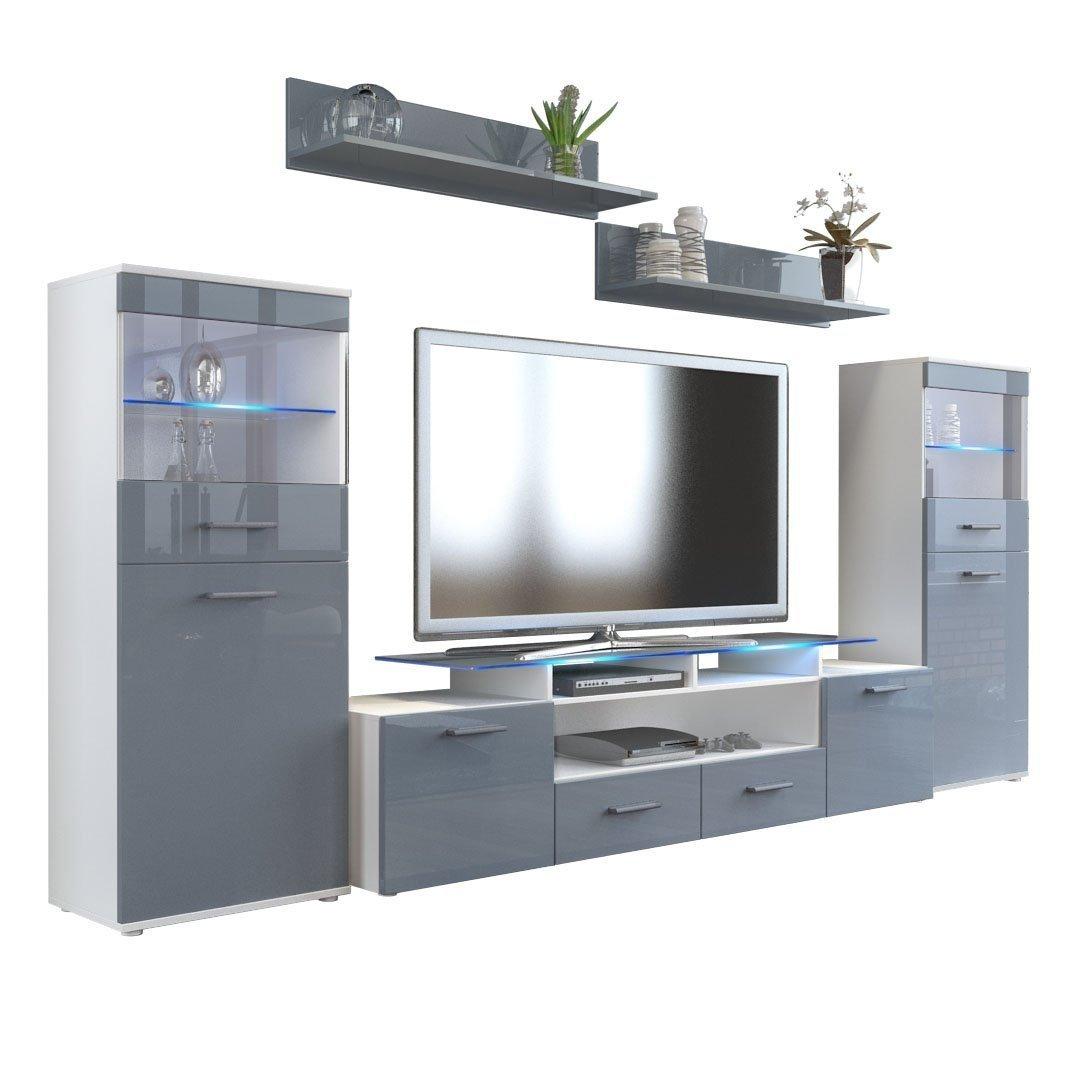 F22 mobile soggiorno porta tv in 13 colori con luci a led rgb - Soggiorno porta tv ...