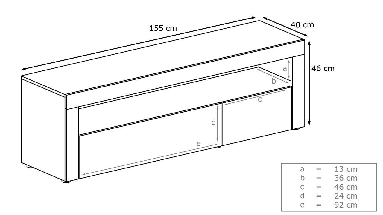 Giglio porta tv di design mobile soggiorno portatv - Dimensioni porta ...