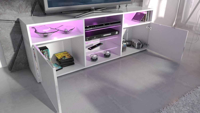 Porta tv chopin,mobile soggiorno moderno con led con telecomando