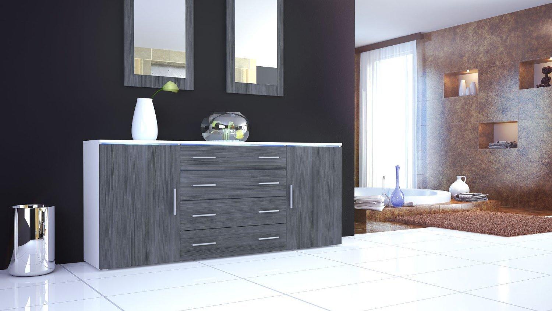credenza bianca messina, madia moderna in 2 dimensioni design - Design Soggiorno Moderno 2
