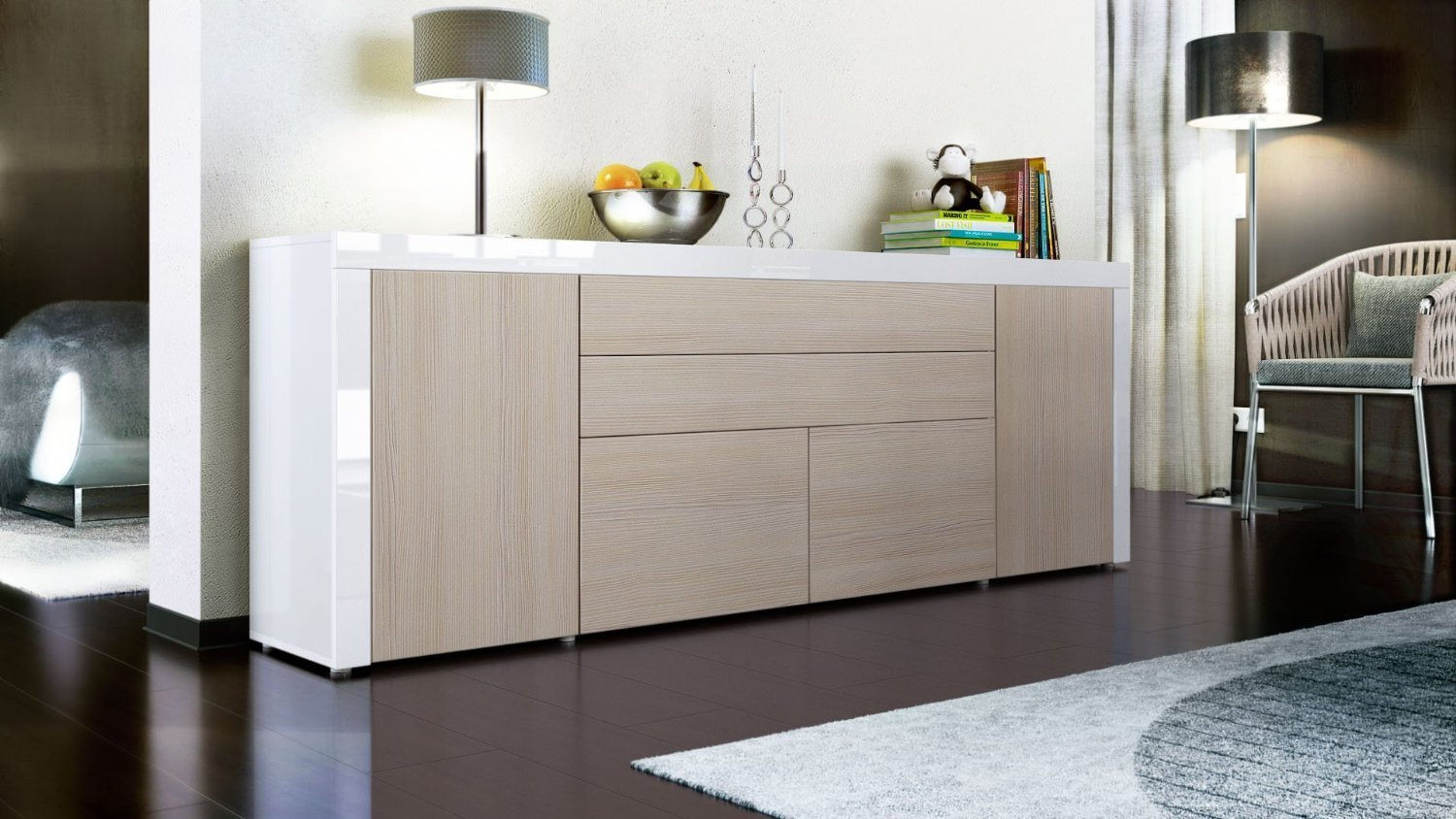 Mobile dispensa angolare for Credenza moderna ikea