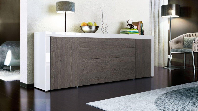 Credenza moderna Napoli 79, mobile soggiorno molto grande di design