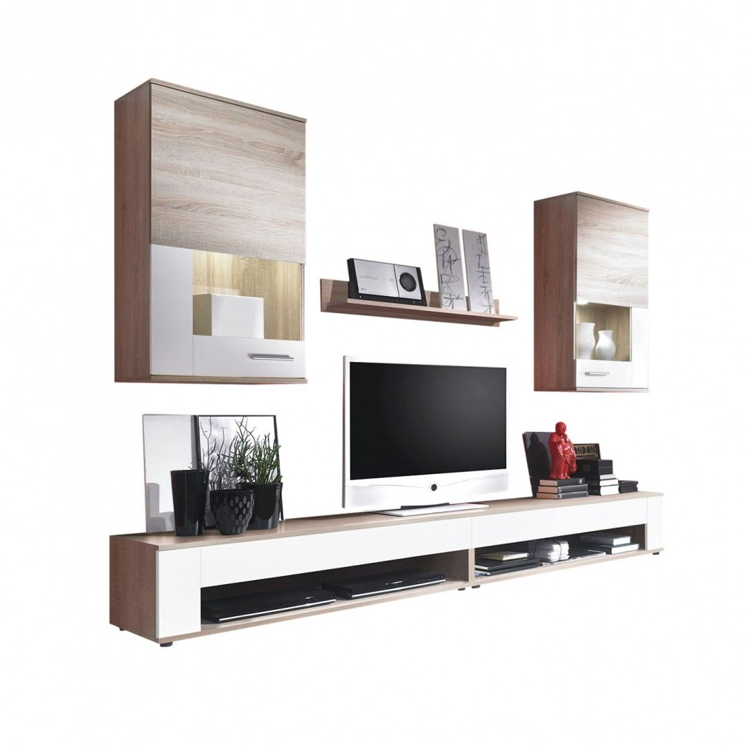 Composizione soggiorno moderno Fly, parete porta tv di design
