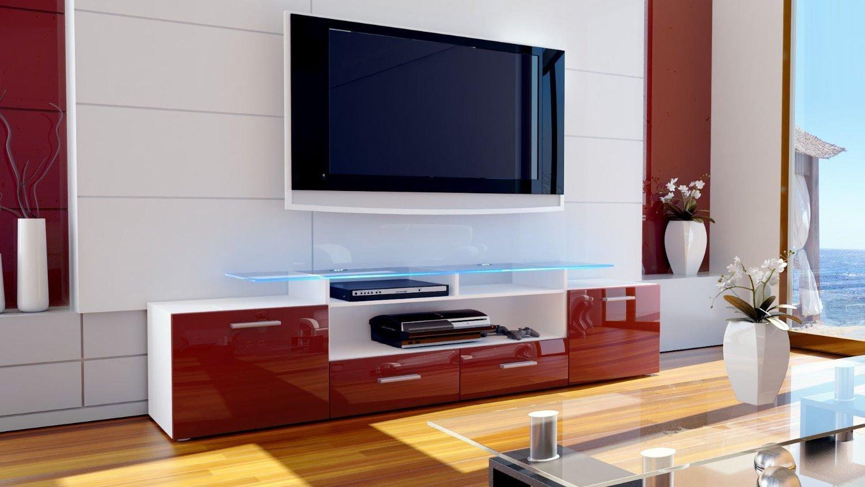 Valentino porta tv mobile soggiorno moderno porta tv bianco o nero - Mobile angolare moderno ...