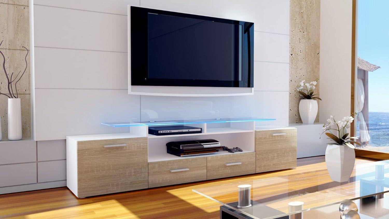 Porta tv Valentino, mobile soggiorno moderno, mobile per tv di design