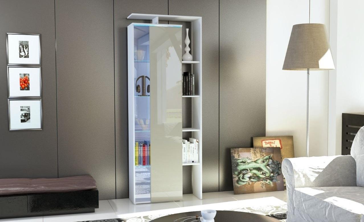 Vetrina moderna gamonda credenza design con led mobile for Vetrinetta moderna