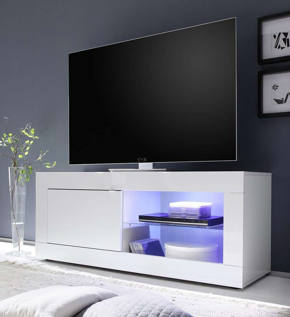 Porta tv Square A21, mobile soggiorno moderno