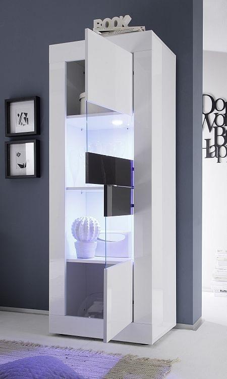 Vetrina moderna square v2 credenza con led mobile soggiorno - Vetrina soggiorno moderna ...