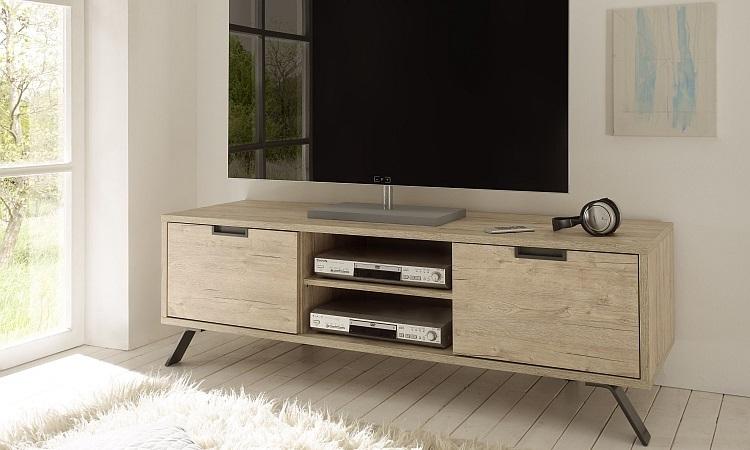 Mobili Per Soggiorno Di Design : Porta tv moderno mobile soggiorno di design in sherwood oak giro ptv