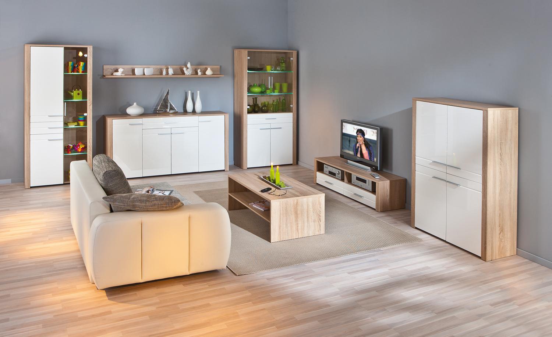 Madia bianca Lara, credenza moderna, mobile soggiorno design