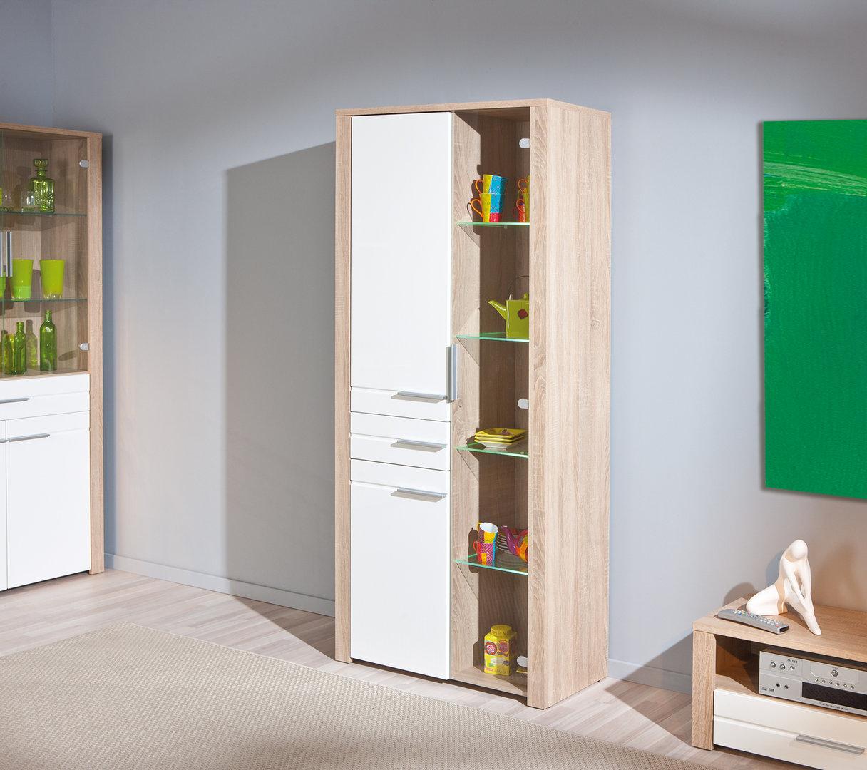 Vetrina moderna Letizia in due misure, mobile soggiorno moderno