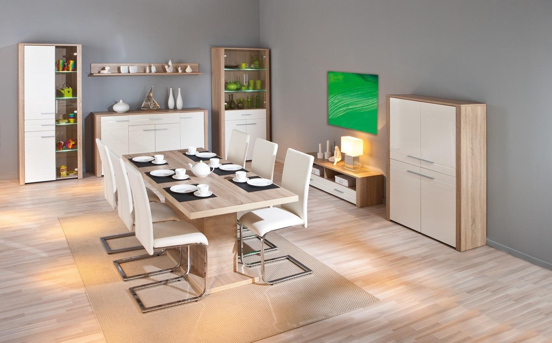 Vetrina moderna letizia in due misure mobile soggiorno for Mobile sala