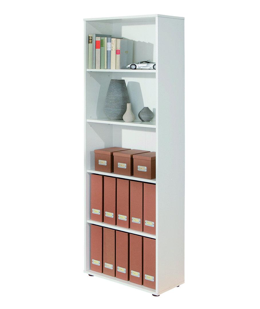 Scaffale moderno bianco, libreria componibile, mobile in 4 misure
