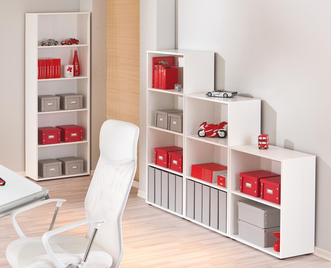 Scaffale moderno bianco libreria componibile mobile in 4 for Libreria angolare componibile