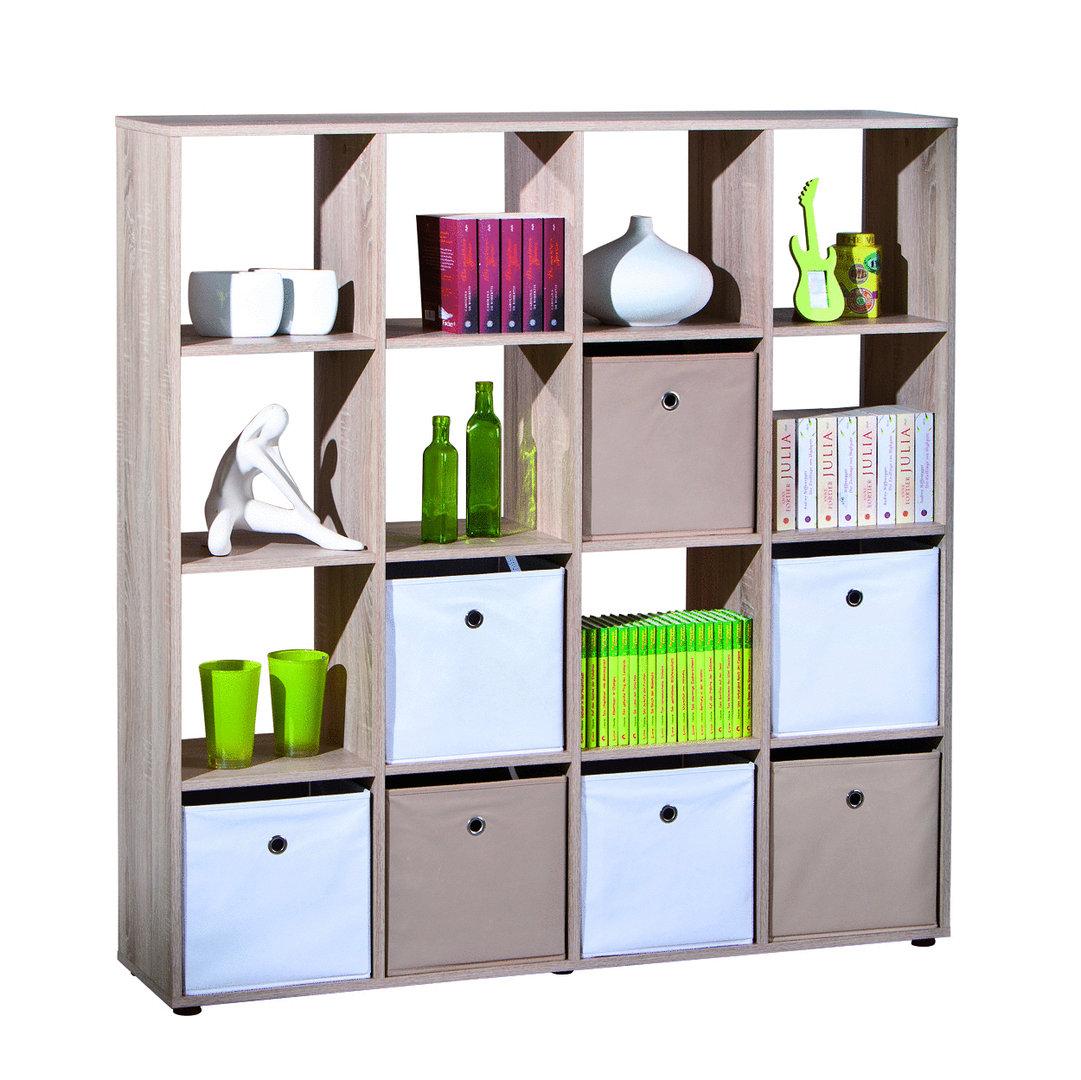 Libreria Moderna Per Soggiorno.Libreria Moderna Nina Divisorio Soggiorno Rovere Mobile Grande