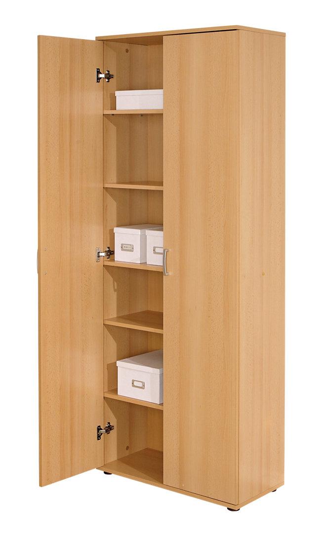 armadio moderno vito, mobile camera, ufficio, scaffale capiente - Mobile Ufficio Bianco