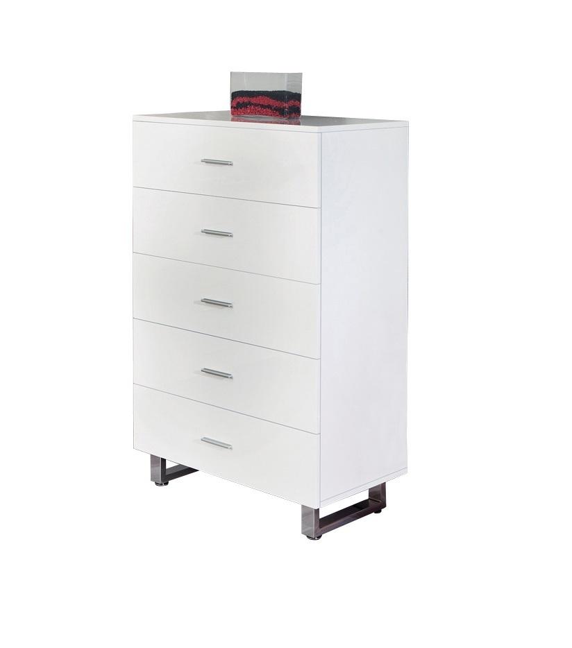 Credenza moderna sabrina mobile sala e soggiorno bianco - Cassettiera bianca ufficio ...