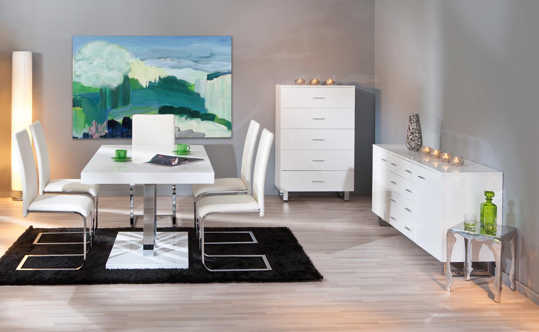 Credenza moderna sabrina mobile sala e soggiorno bianco for Mobile soggiorno bianco