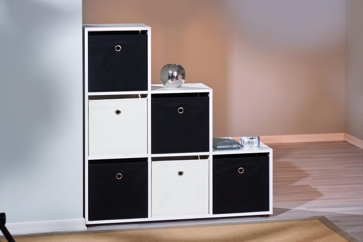 Gixi contenitori moderni scatole in stoffa per scaffali di for Scatole per armadi in tessuto