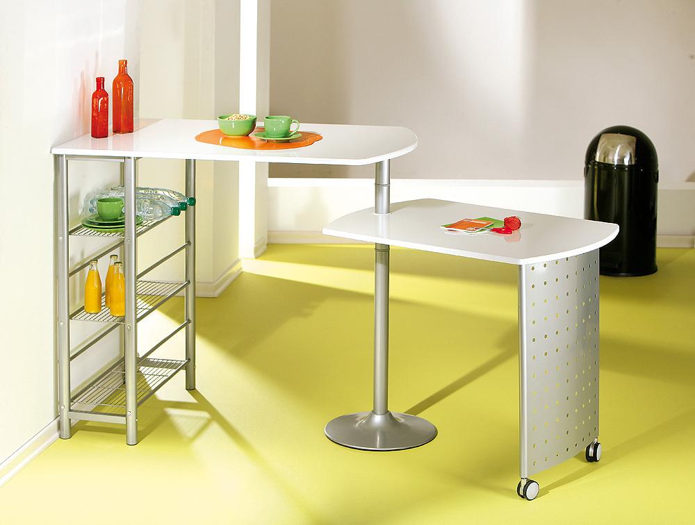 Tavolo moderno in metallo compact per cucina salvaspazio for Tavolo salvaspazio