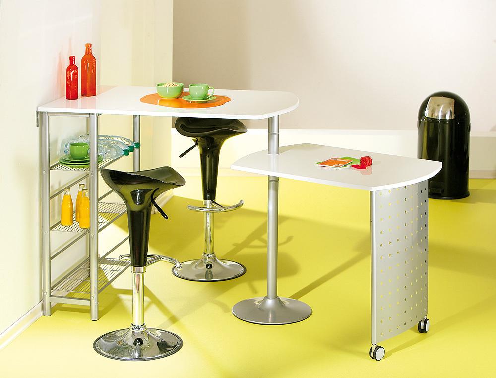 Tavolo moderno in metallo compact per cucina salvaspazio for Tavolo moderno cucina