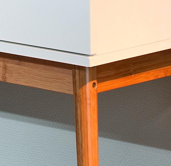 madia per soggiorno moderno sophie, credenza dal design retrò - Soggiorno Anni 50