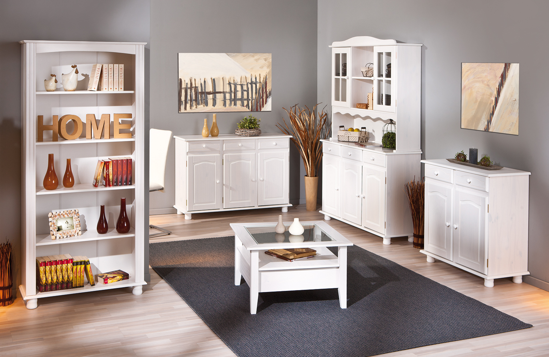 Credenza fiona bianca mobile soggiorno ingresso moderno for Arredamento soggiorno moderno in legno