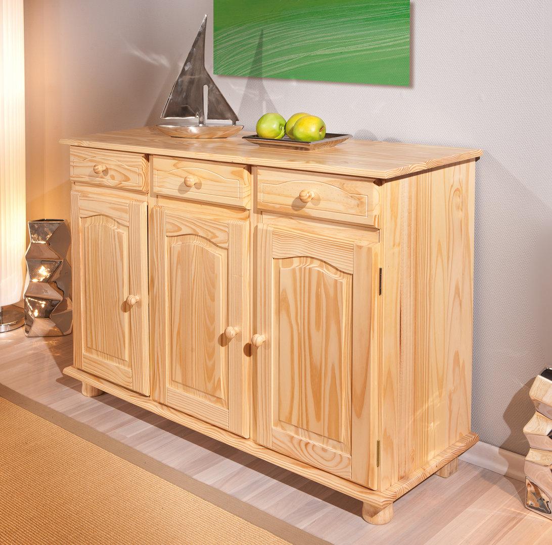 Norda credenza classica, legno di pino naturale, mobile ...