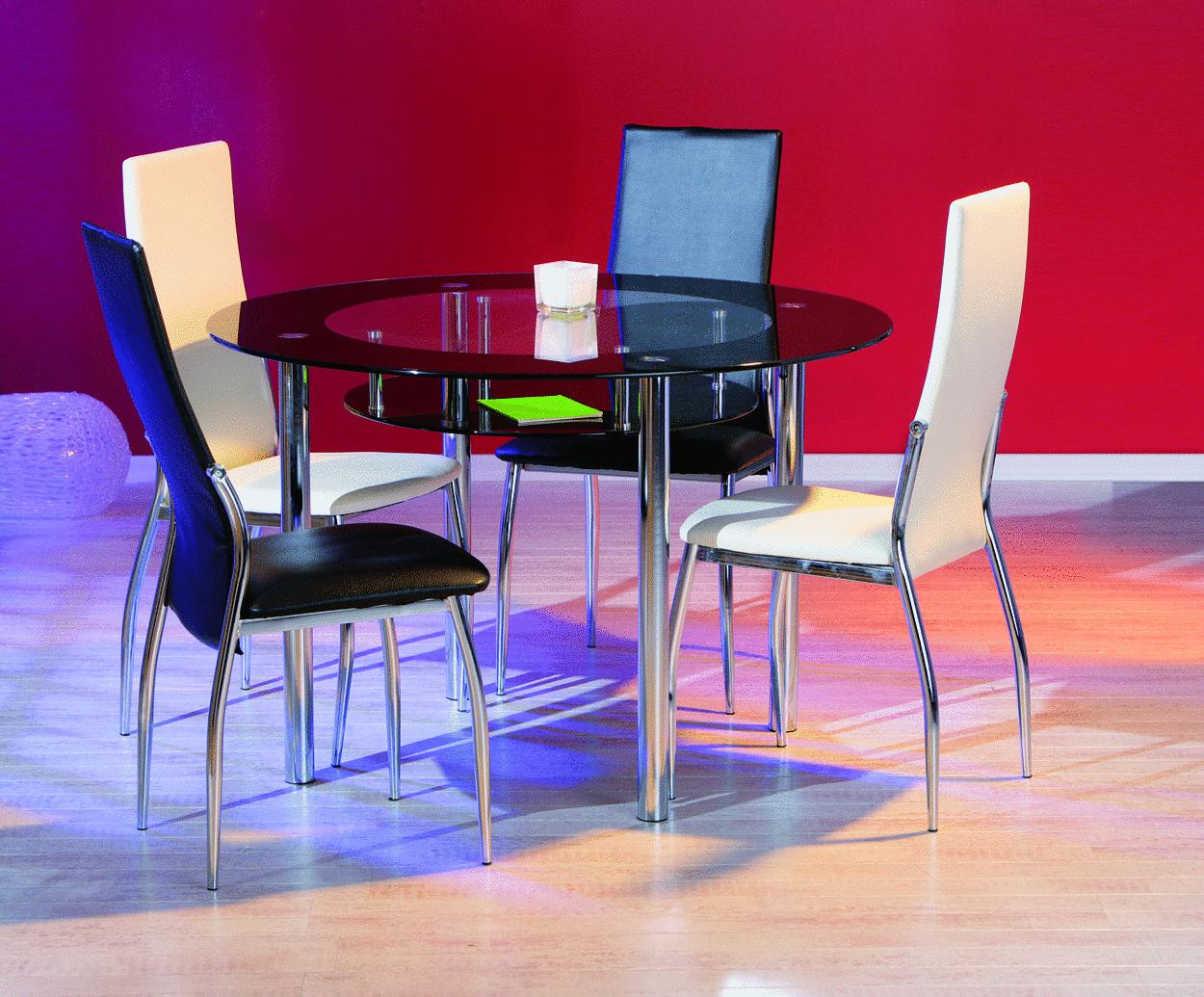 Glass Tavolo Moderno In Vetro Tavolo In Due Modelli Per Cucina #87042B 1250 1035 Tavolo Sala Da Pranzo Rotondo