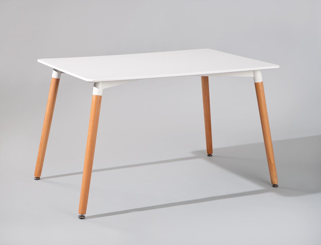Tavolo da pranzo moderno Blanc, tavolo bianco e legno per cucina