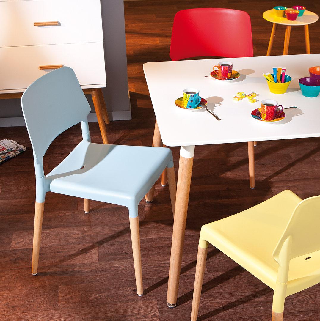 Tavolo Da Pranzo Moderno Blanc Tavolo Bianco E In Legno Per Cucina #AF811C 1076 1080 Dimensioni Tavolo Da Pranzo Per 4