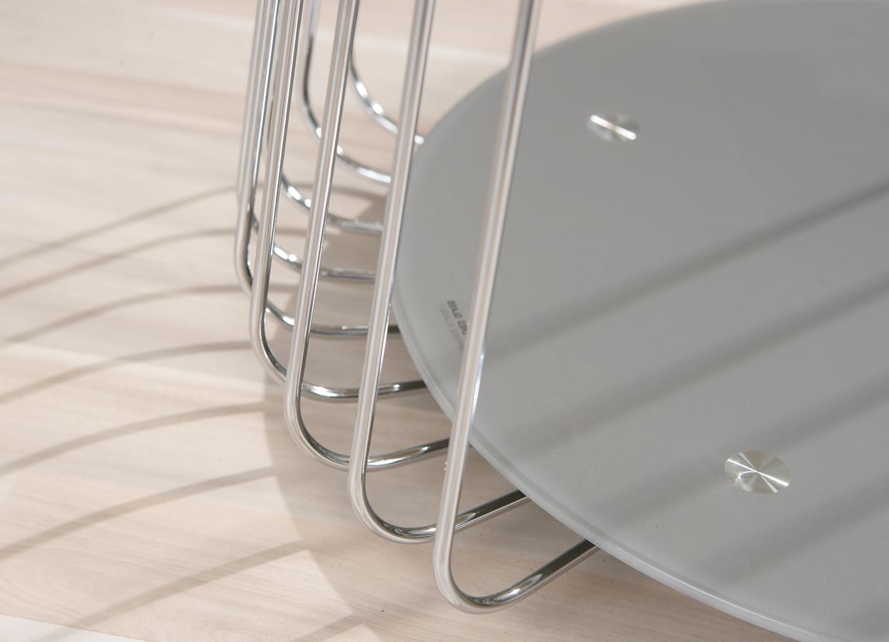 Tavolino moderno Cage, in due modelli,mobile soggiorno design in vetro