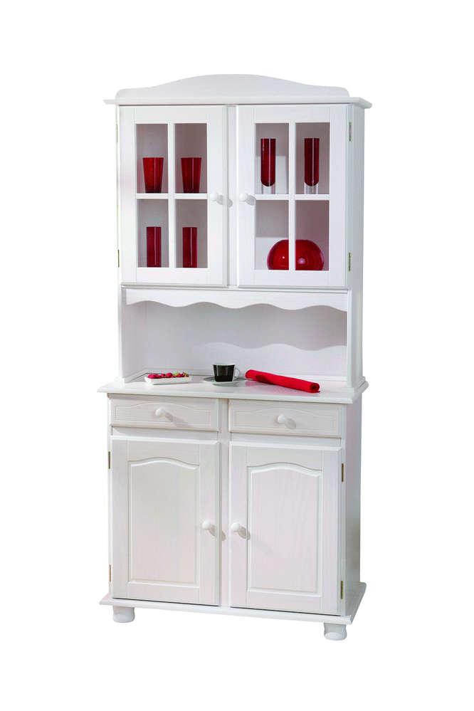 vetrina classica bianca fiona, mobile cucina,soggiorno country - Vetrina Soggiorno Bianca 2
