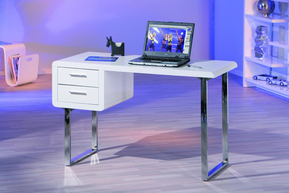 Mobile ufficio, soggiorno di design, scrivania bianca Simona