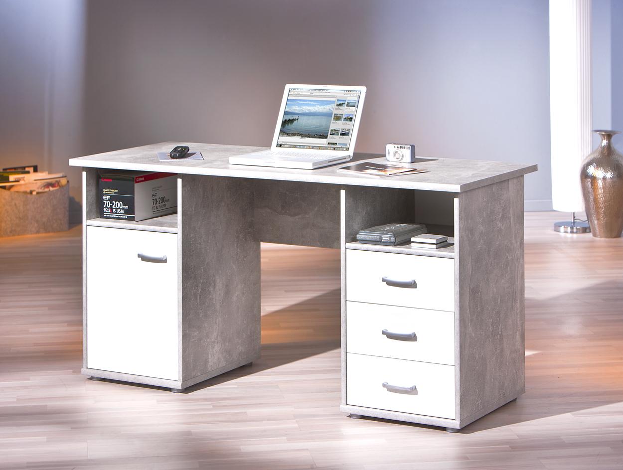 Desky scrivania moderna in tre colori mobile ufficio studio - Mobile con scrivania ...