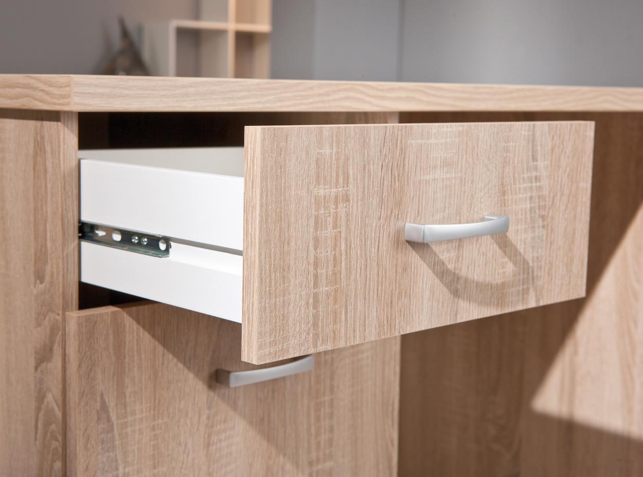 Scrivania moderna desky 89 mobile ufficio e studio rovere - Mobile con scrivania ...