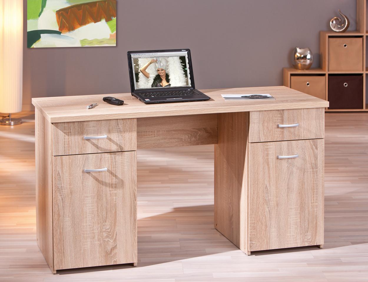 Scrivania Con Mobile : Scrivania moderna desky 89 mobile ufficio e studio rovere