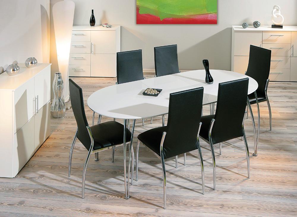 Commit tavolo moderno bianco in 2 dimensioni mobile sala - Dimensioni tavolo cucina ...
