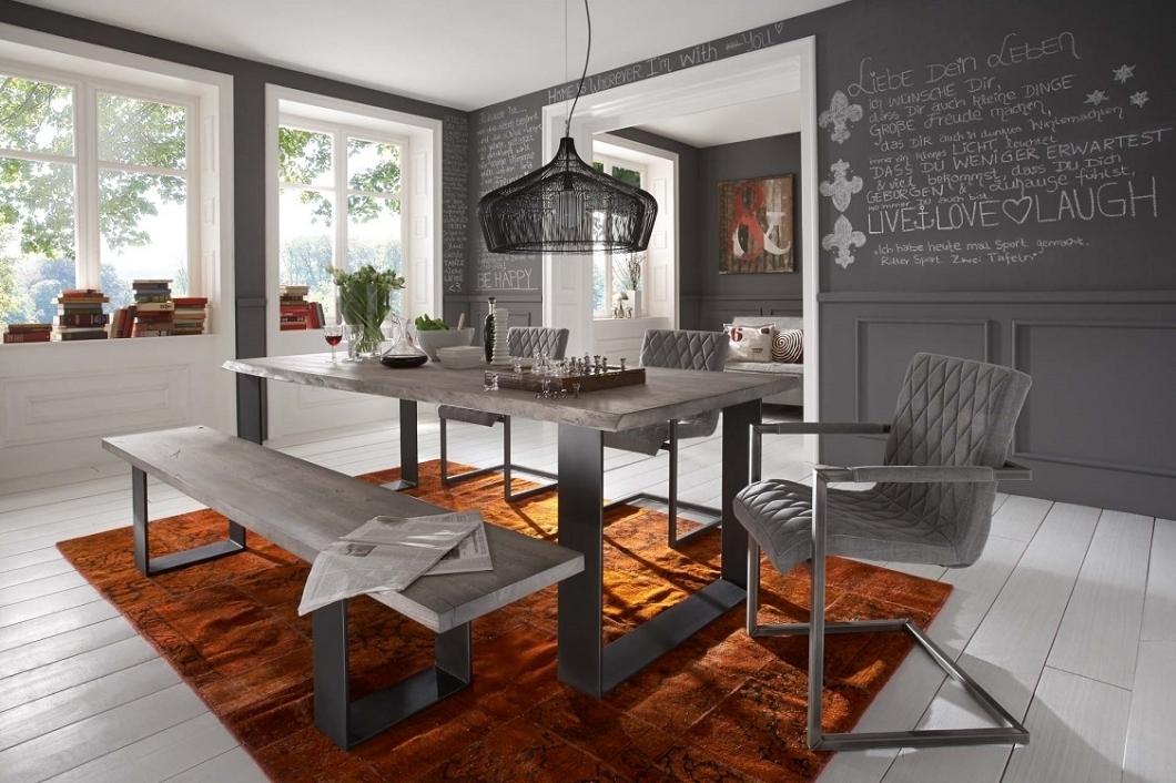 Tavolo da pranzo gold in legno massiccio mobile moderno for Mobile sala da pranzo moderno