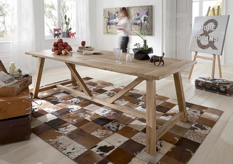 Tavoli Sala Da Pranzo In Legno : Tavolo da pranzo massiccio nature in legno di rovere riciclato