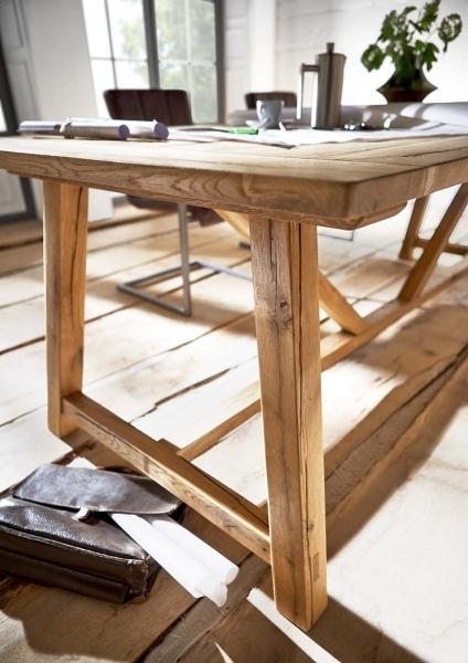 Tavolo da pranzo massiccio Nature, in legno di rovere ...